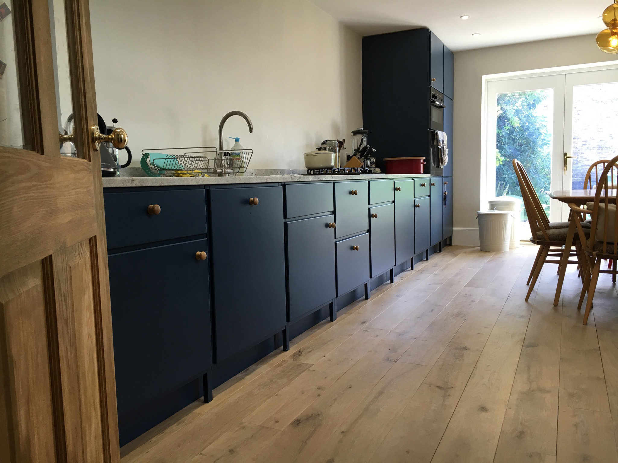 Little-Green-Royal-Navy-Blue-Bespoke-Kitchen - The Little Woodshed